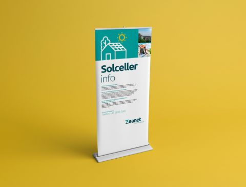 Design af logo og visuel identitet for Zeanet - roll-up