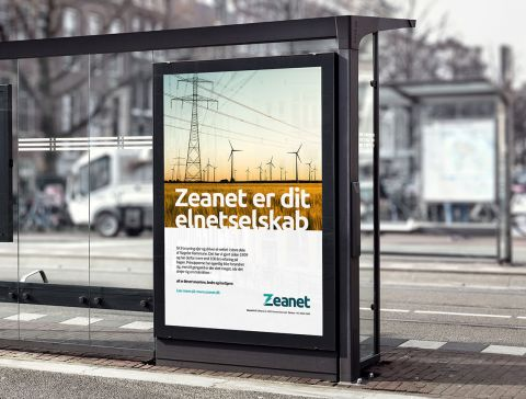 Outdoor reklame for Zeanet