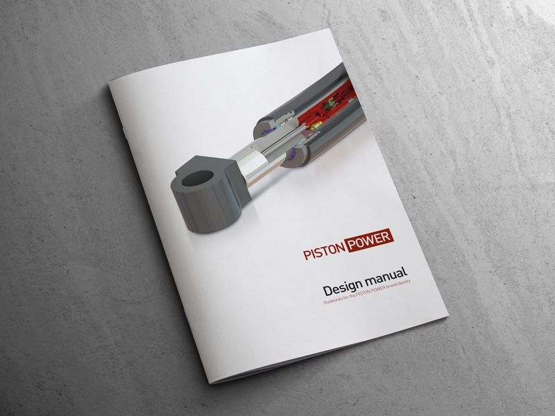 Logodesign og designmanual for PistonPower